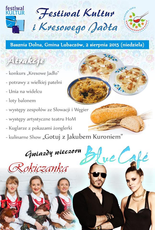 rokiczanka plakat festiwal kultur kresowego jadla 648x960px facebook Rokiczanka na Festiwalu Kultur i Kresowego Jadła w Baszni Dolnej