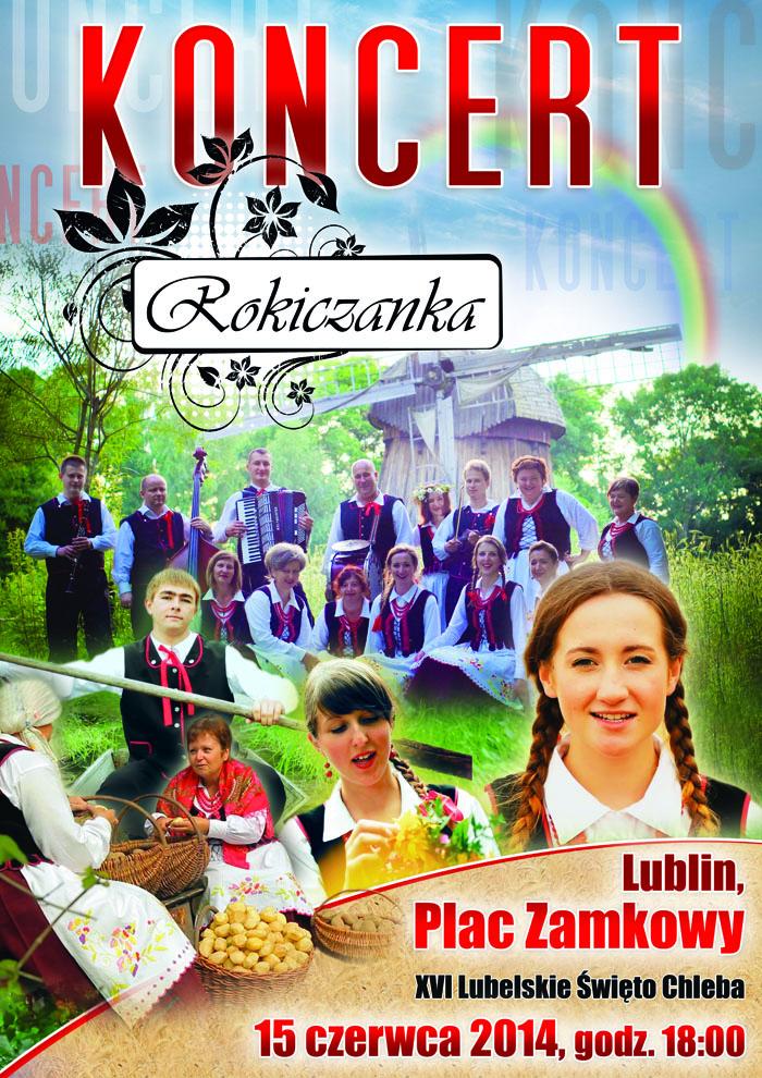 rokiczanka plakat koncertowy lublin plac zamkowy Kopia 1 XVI Lubelskie Święto Chleba na Placu Zamkowym