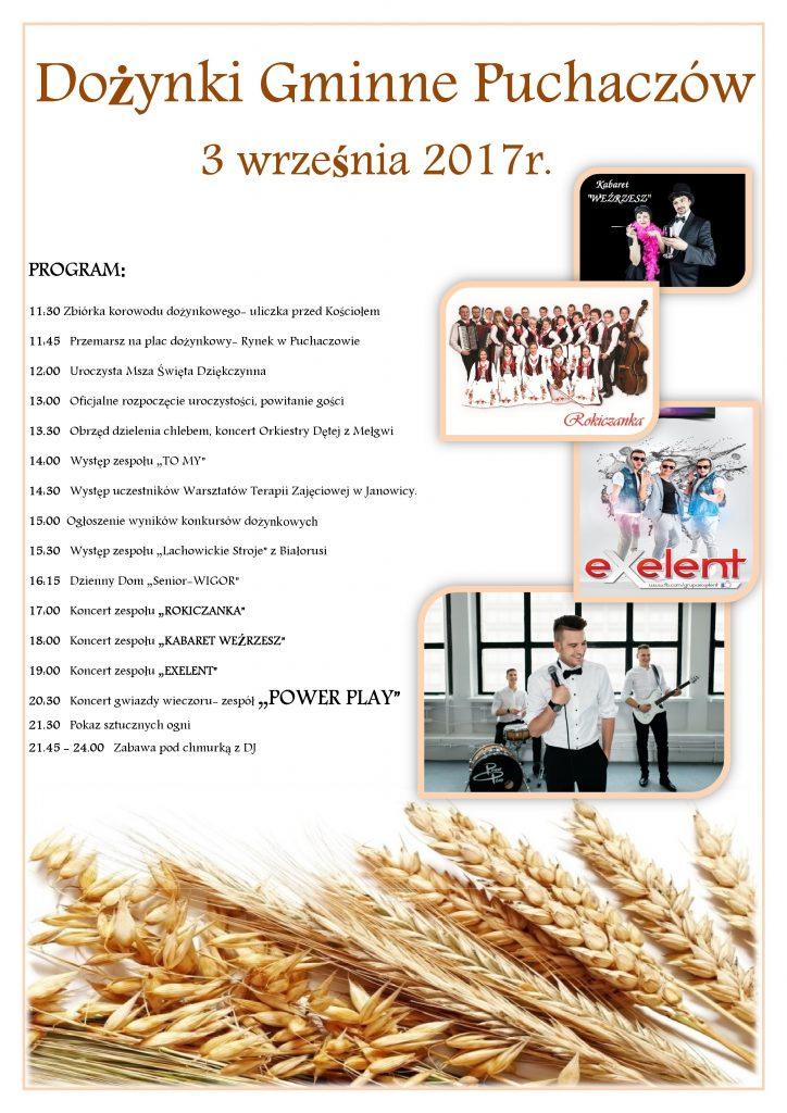 2017 08 28 plakat dozynki page 001 724x1024 Zapraszamy do Puchaczowa!