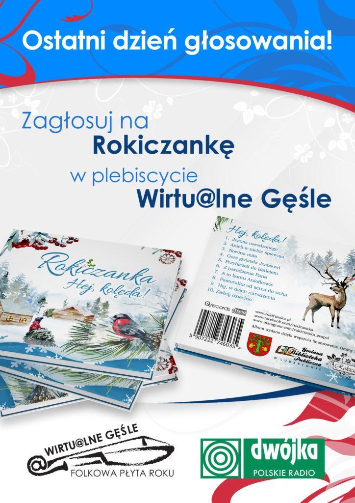 Plakat GĘŚLE copy 724x1024 Zagłosuj na nas w plebiscycie Wirtu@lne Gęśle