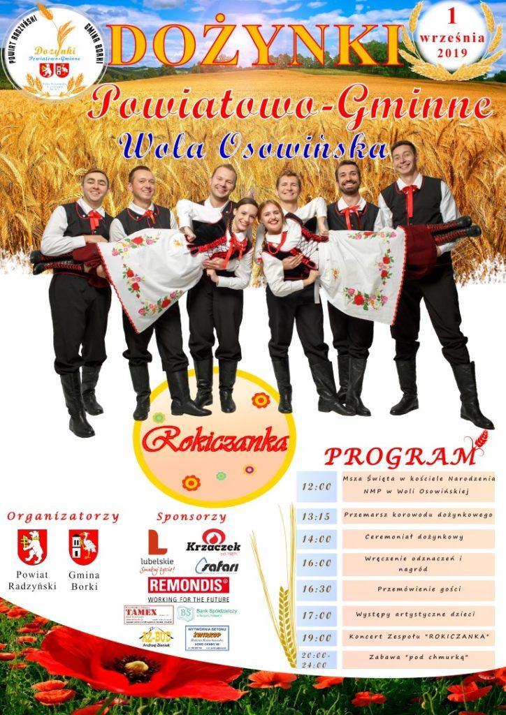 plakatdozynkizlogami Medium 724x1024 Już w najbliższą niedzielę zagramy w Woli Osowińskiej k./ Radzynia Podl.